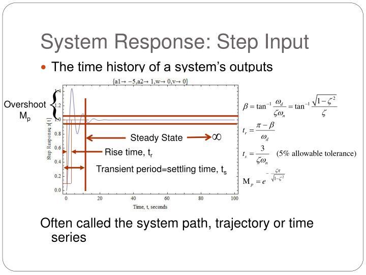 System Response: Step Input