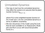 unmodeled dynamics1