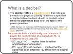 what is a decibel