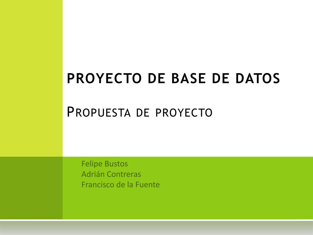 PROYECTO DE BASE DE DATOS