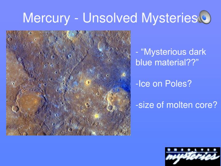 Mercury - Unsolved Mysteries