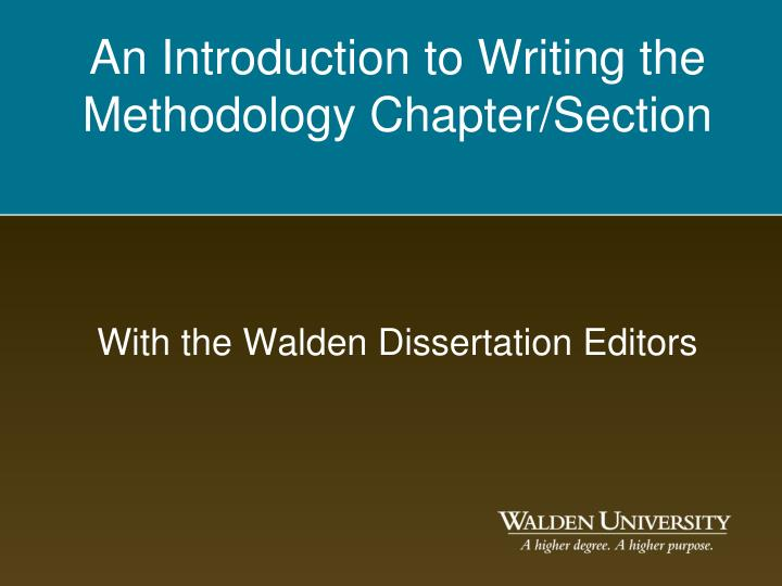 dissertation introduction section The materials and methods section or the dissertation methodology section is where you explain everything you did and only that these sections could include the introduction however in a university thesis or dissertation methodology chapter you'll be expected to add more detail.