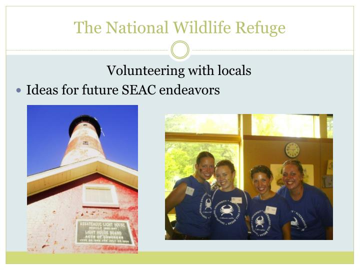 The National Wildlife Refuge
