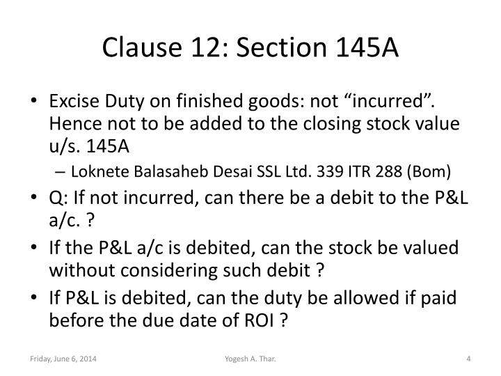 Clause 12: Section 145A