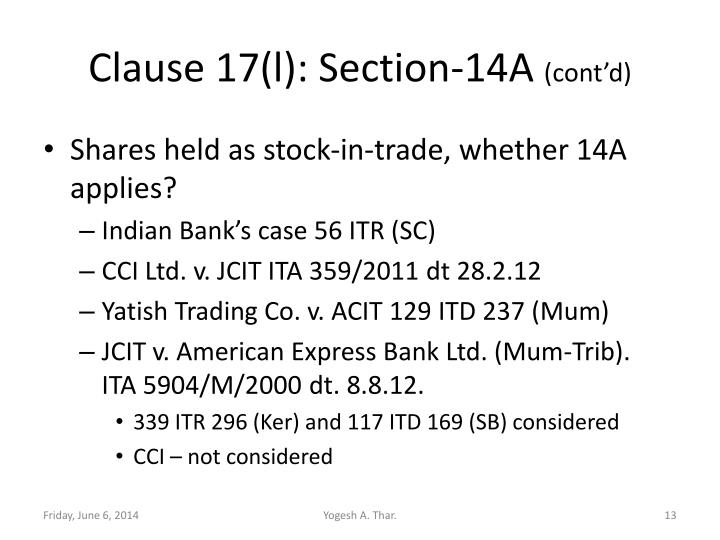 Clause 17(l):