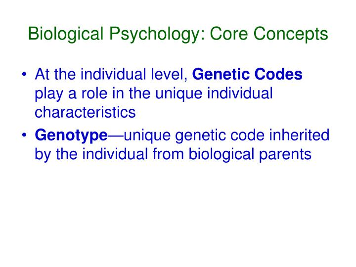 Biological psychology core concepts