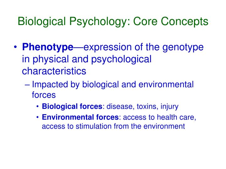 Biological psychology core concepts1