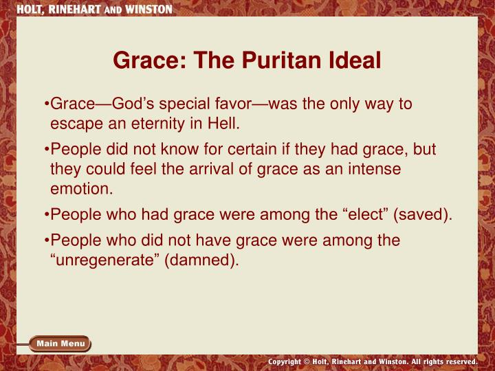 Grace: The Puritan Ideal