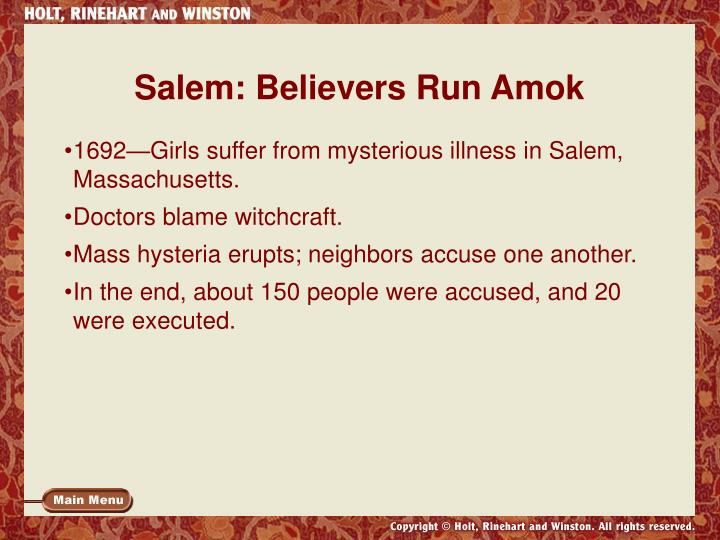 Salem: Believers Run Amok