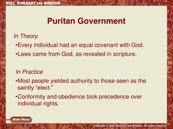 Puritan Government
