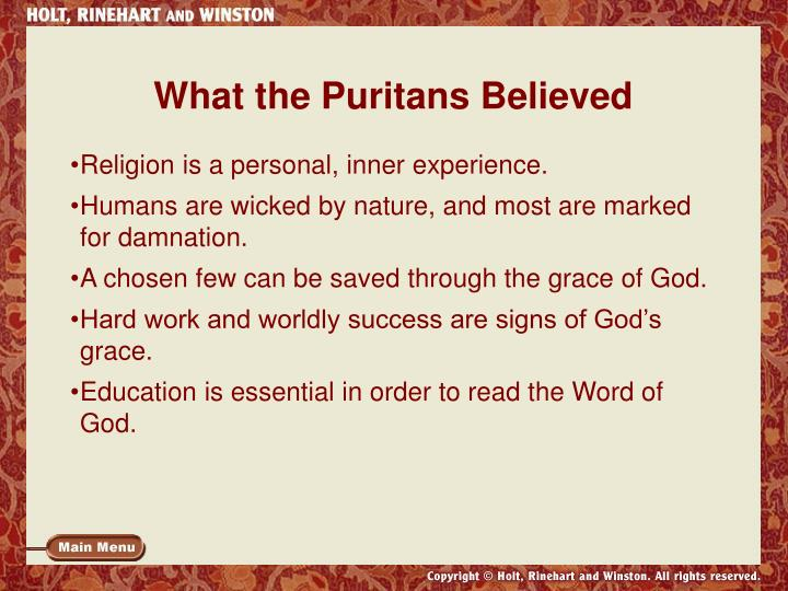 What the Puritans Believed