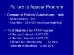 failure to appear program2