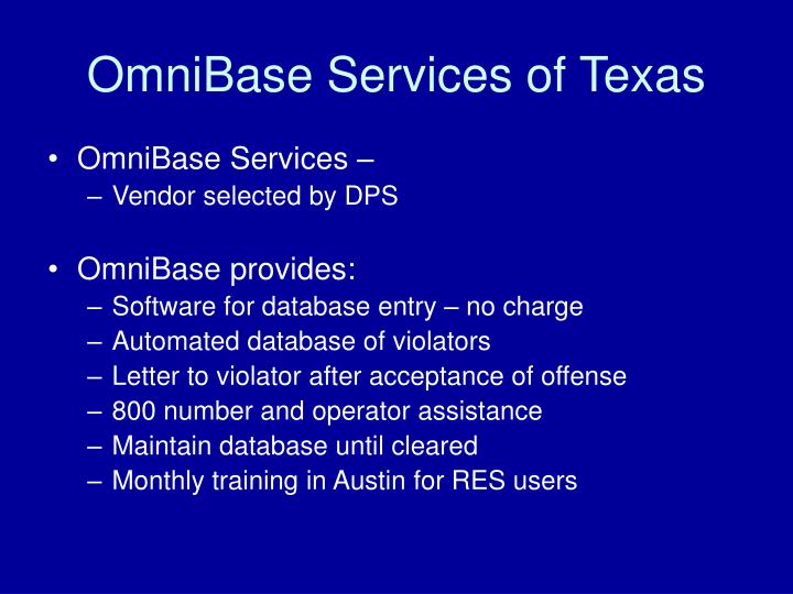 OmniBase Services of Texas
