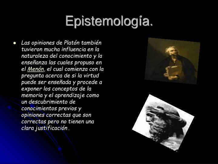 Epistemología.