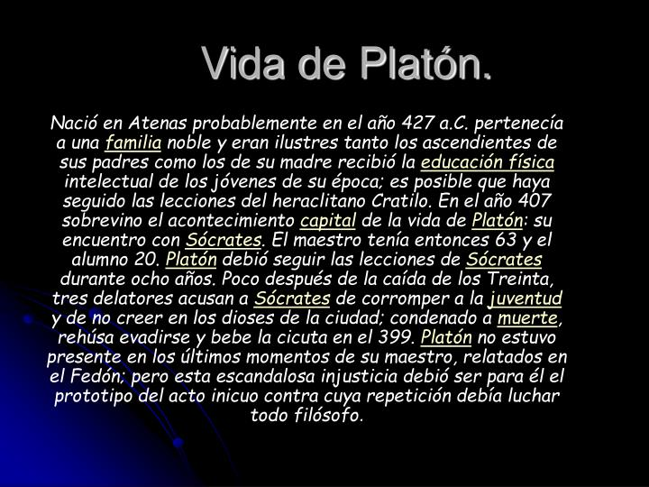 Vida de Platón.