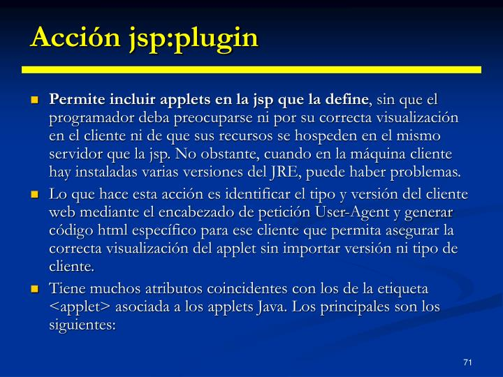 Acción jsp:plugin