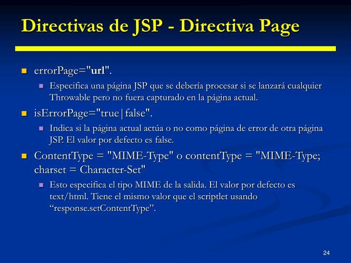 Directivas de JSP - Directiva Page