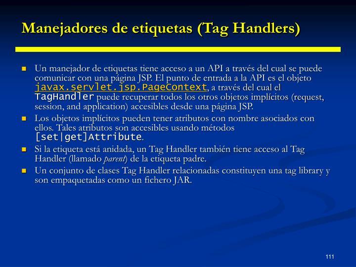 Manejadores de etiquetas (Tag Handlers)