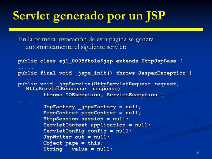 Servlet generado por un JSP