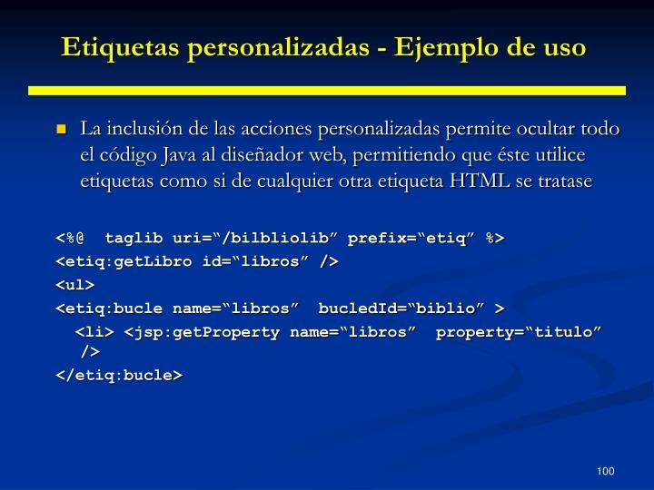Etiquetas personalizadas - Ejemplo de uso