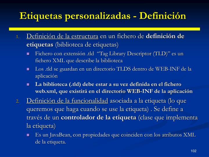 Etiquetas personalizadas - Definición