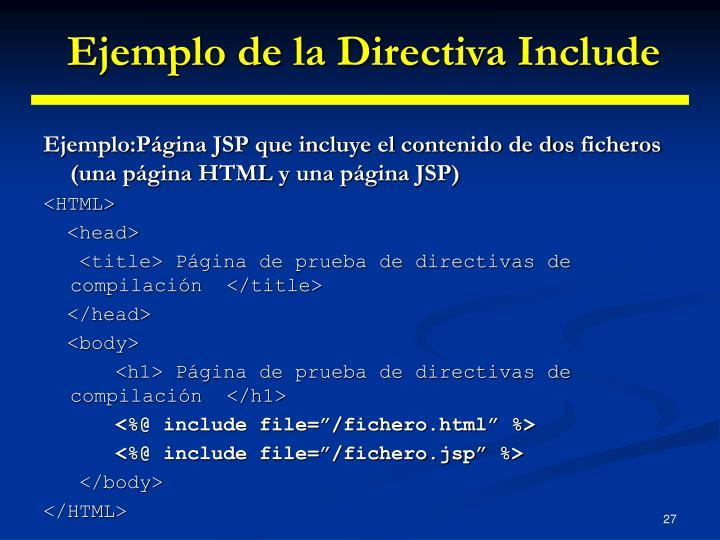 Ejemplo de la Directiva Include