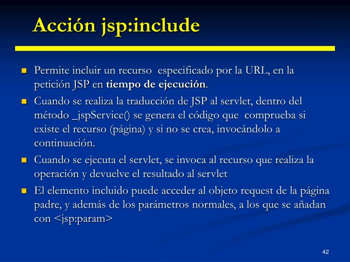 Acción jsp:include