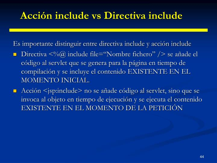 Acción include vs Directiva include