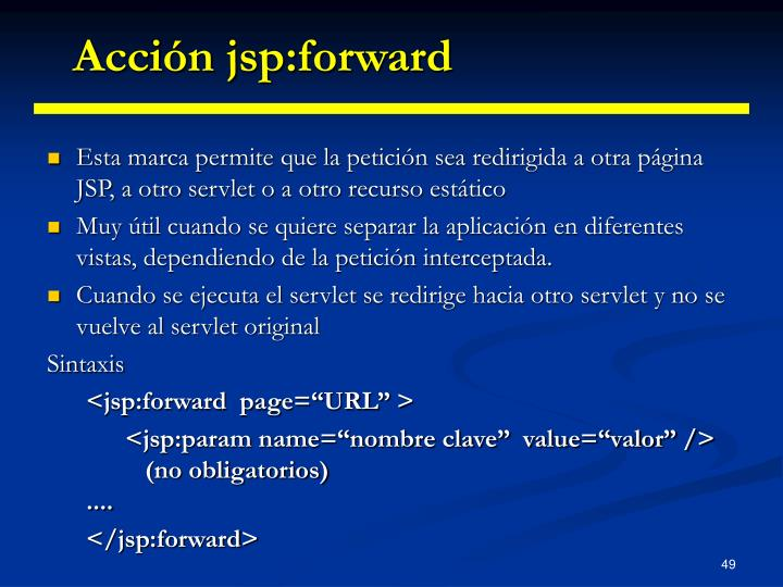 Acción jsp:forward