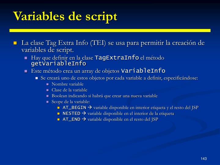 Variables de script
