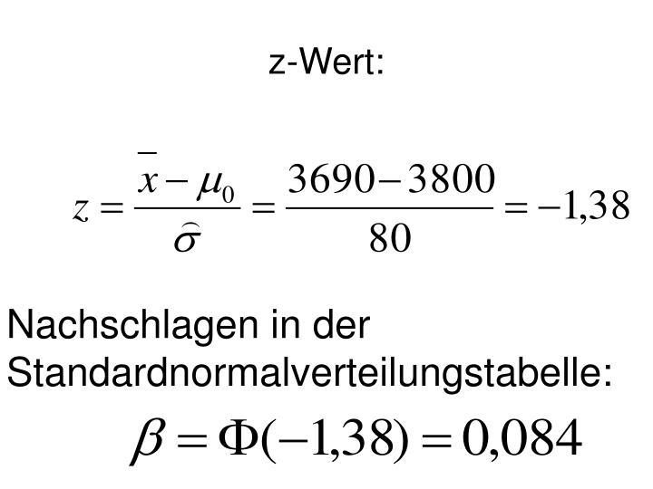 z-Wert: