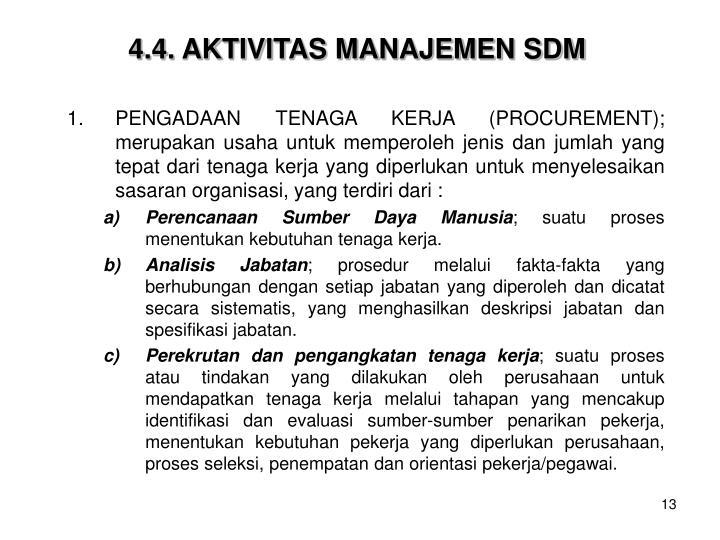 4.4. AKTIVITAS MANAJEMEN SDM