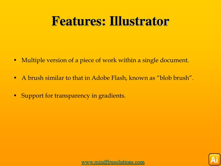 Features: Illustrator