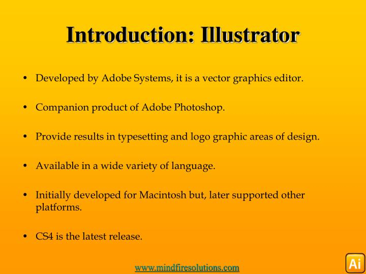 Introduction: Illustrator