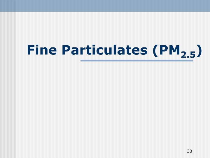 Fine Particulates (PM