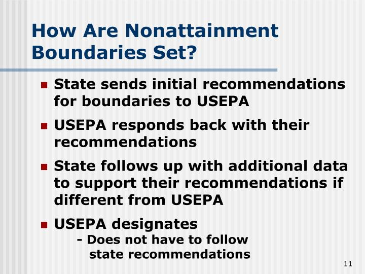 How Are Nonattainment Boundaries Set?
