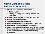north carolina clean smoke stacks act