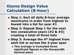 ozone design value calculation 8 hour