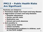 pm2 5 public health risks are significant