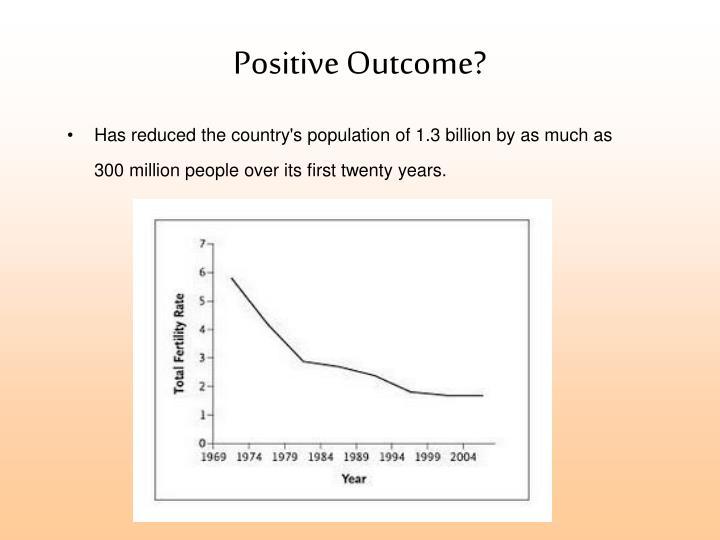 Positive Outcome?