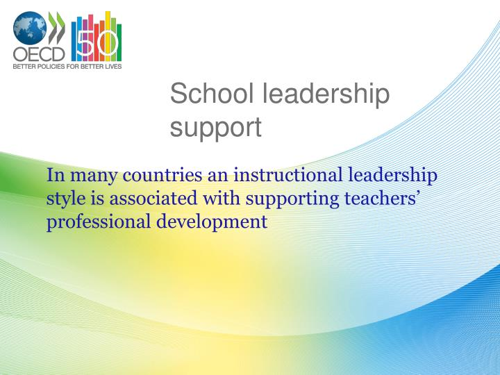 School leadership support