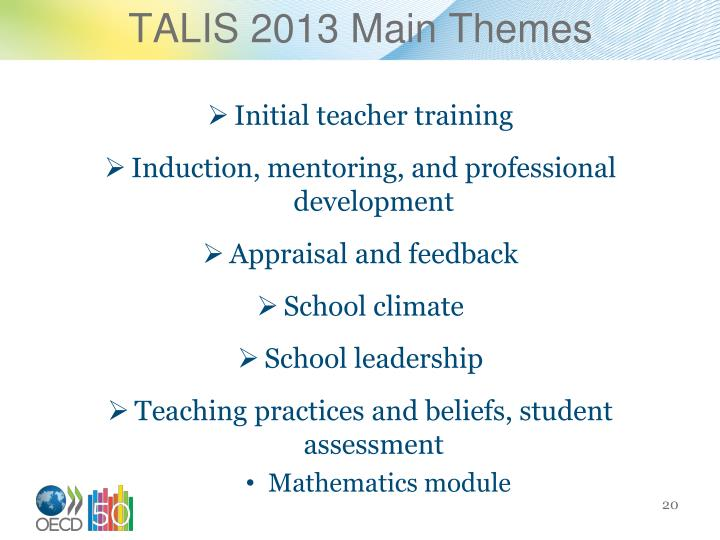 TALIS 2013 Main Themes