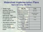 watershed implementation plans approved along with tmdl
