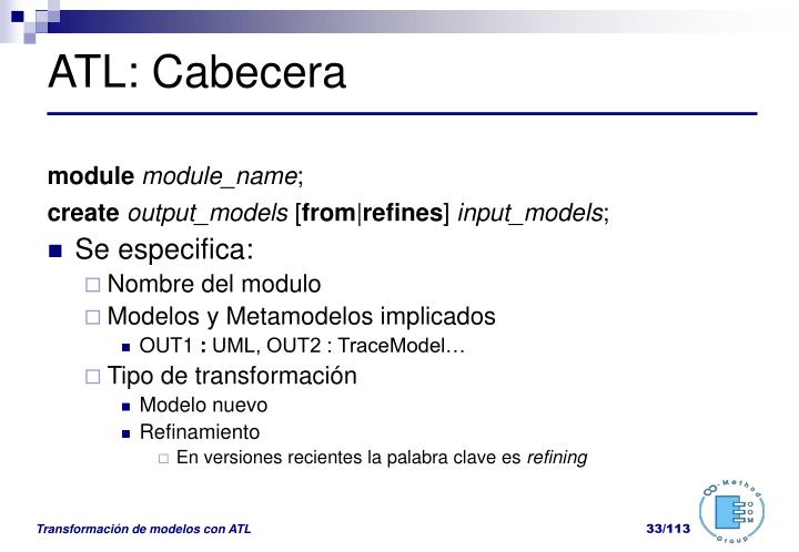 ATL: Cabecera