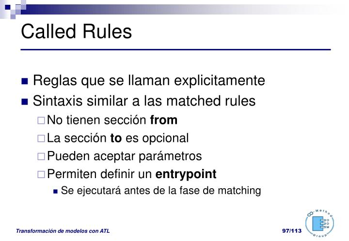 Called Rules