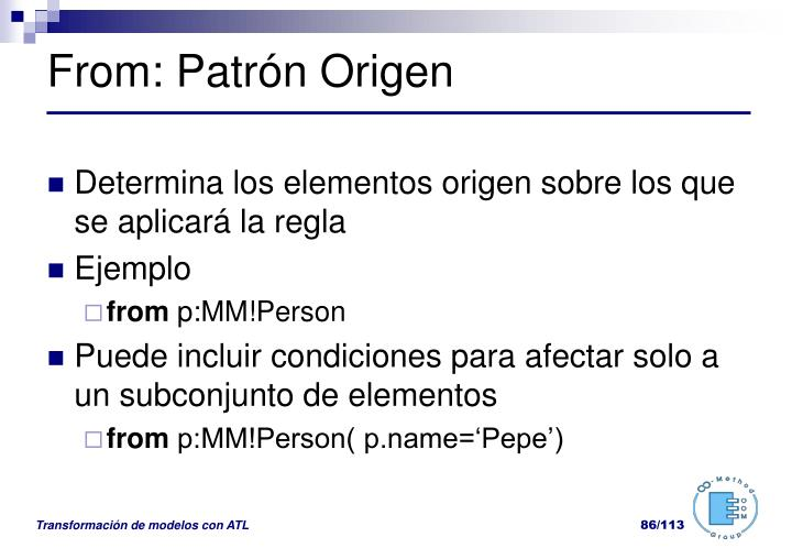 From: Patrón Origen