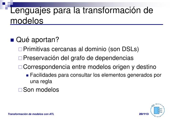 Lenguajes para la transformación de modelos