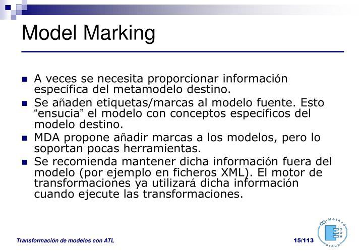 Model Marking