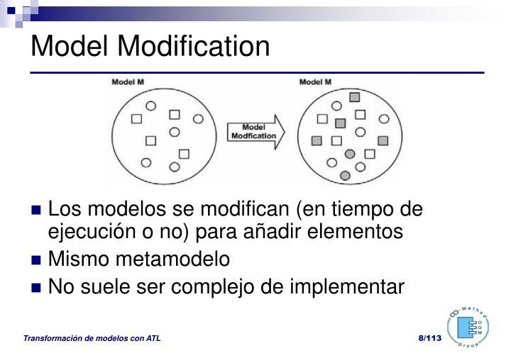 Model Modification