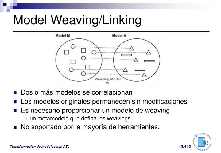 Model Weaving/Linking